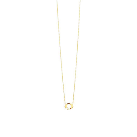 """""""O"""" Initial Necklace In 10kt Yellow Gold"""