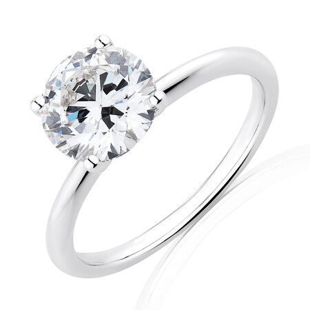 Laboratory-Created 2 Carat Diamond Ring in 14kt White Gold