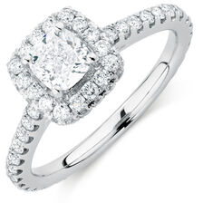 Sir Michael Hill Designer GrandAllegro Engagement Ring with 1.64 Carat TW of Diamonds in 14kt White Gold