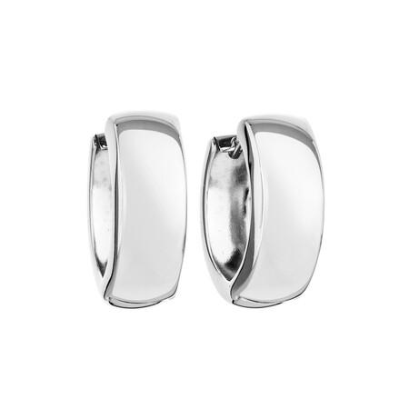 Huggie Earrings in 10kt White Gold
