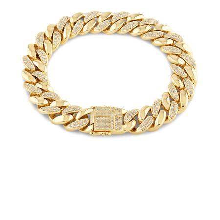 Men'S Bracelet with 2.05 TW of Diamonds In 10kt Yellow Gold