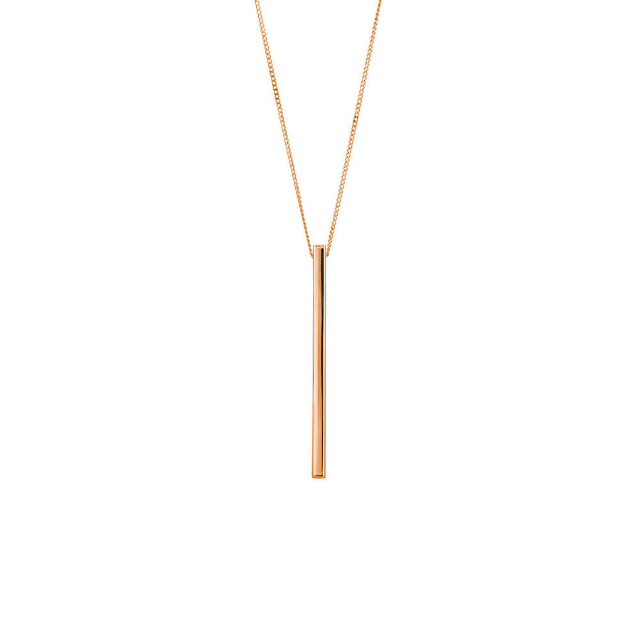 Vertical Bar Pendant in 10ct Rose Gold