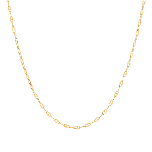 """40cm (16"""") Hollow Fancy Chain in 10kt Yellow Gold"""