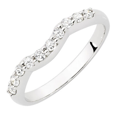 Evermore Wedding Band with 1/4 Carat TW of Diamonds in 18kt White Gold