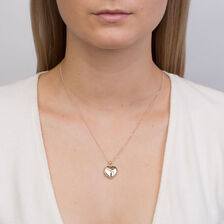 Heart Locket with Diamonds in 10kt Yellow Gold & Sterling Silver