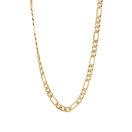 Figaro Chain in 10kt Yellow Gold