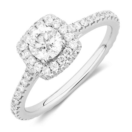 Sir Michael Hill Designer GrandAllegro Engagement Ring with 1.15 Carat TW of Diamonds in 14kt White Gold