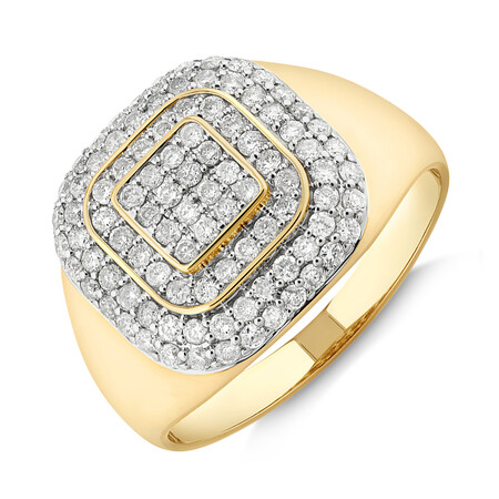Ring with 1 Carat TW of Diamonds in 10kt Yellow Gold