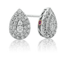 Sir Michael Hill Designer Fashion Earrings with 0.33 Carat TW of Diamonds in 10kt White Gold