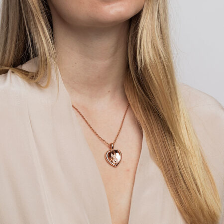 Infinitas Enhancer Pendant with Diamonds in 10kt Rose Gold