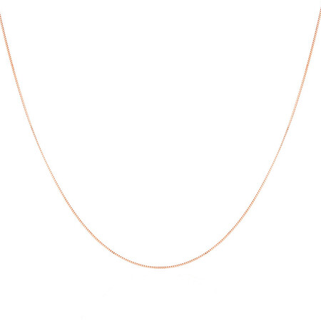 "70cm (28"") Box Chain in 10kt Rose Gold"