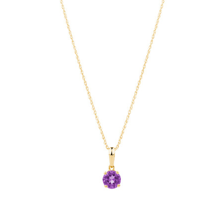 Pendant with Amethyst in 10kt Yellow Gold