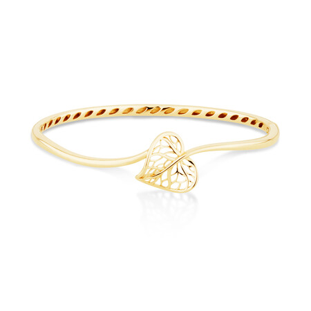 Heart Leaf Bangle in 12kt Yellow Gold