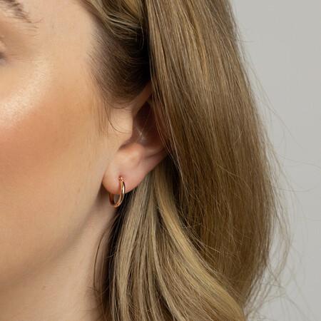 14mm Hoop Earrings in 10kt Rose Gold