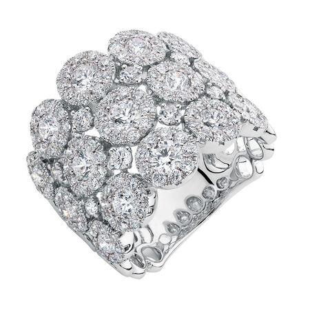 Ring with 2.97 Carat TW of Diamonds in 14kt White Gold