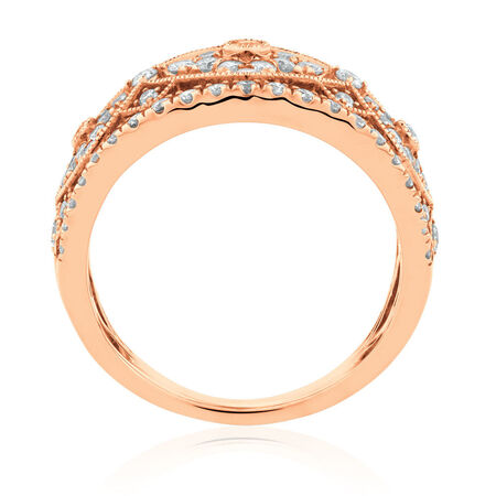 Ring with 1 Carat TW of Diamonds in 10kt Rose Gold