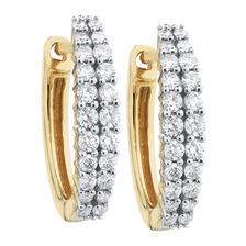 Huggie Earrings with 0.40 Carat TW of Diamonds in 10kt Yellow Gold