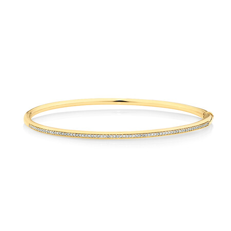 Bangle with 0.25 Carat TW of Diamonds in 10kt Yellow Gold
