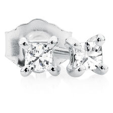Classic Stud Earrings with 0.13 Carat TW of Diamonds in 10kt White Gold