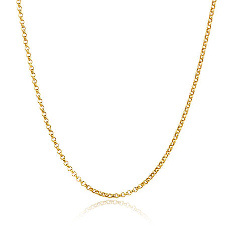 """50cm (20"""") Rolo Chain in 10kt Yellow Gold"""