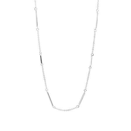 """45cm (18"""") Bar Necklace in Sterling Silver"""