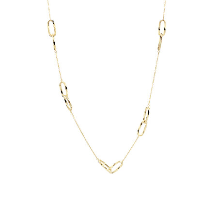 Multi-Link Necklace in 10kt Yellow Gold