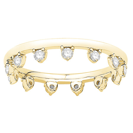 Zipper Ring with 0.44 Carat TW of Diamonds in 10kt Yellow Gold