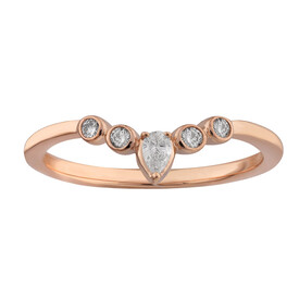 Ring with 0.15 Carat TW of Diamonds in 10kt Rose Gold