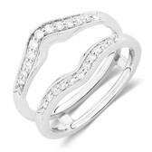 Enhancer Ring with 1/4 Carat TW of Diamonds in 14kt White Gold
