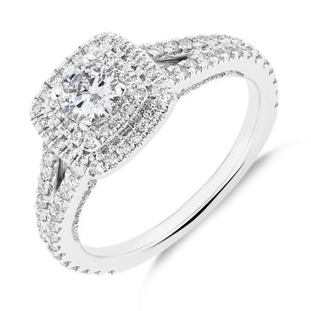 Sir Michael Hill Designer GrandApreggio Ring With 0.95 Carat TW Of Diamonds In 10kt White And Rose Gold