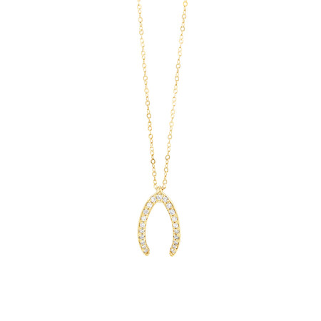 Mark Hill Wisbone Necklace with 0.08 Carat TW of Diamonds in 10kt Yellow Gold