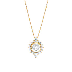 Everlight Pendant with 1/2 Carat TW of Diamonds in 10kt Yellow Gold