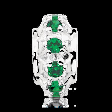 Green Cubic Zirconia Charm