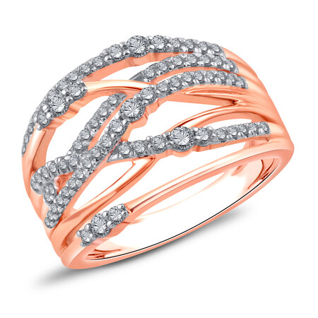 Ring with 0.50 Carat TW of Diamonds in 10kt Rose Gold