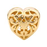 10kt Yellow Gold Filigree Heart Charm