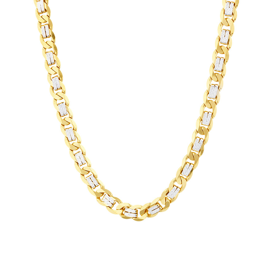 "55cm (21.6"") Curb Chain In 10kt Yellow And White Gold"