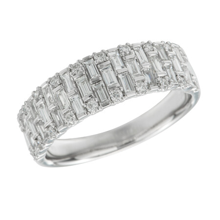 Ring with 1.00 Carat TW of Diamonds in 14kt White Gold
