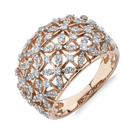 Ring with 0.75 Carat TW of Diamonds in 10kt Rose Gold