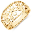 Flower Ring in 10kt Yellow Gold