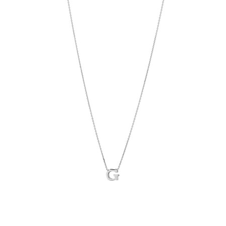 'G' Initial Necklace in Sterling Silver