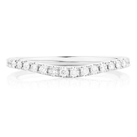 Sir Michael Hill Designer GrandArpeggio Wedding Band with 0.40 Carat TW of Diamonds in 14kt White Gold