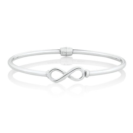 Infinity Bangle in Sterling Silver