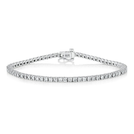 Tennis Bracelet with 3 Carat TW of Diamonds in 10kt White Gold