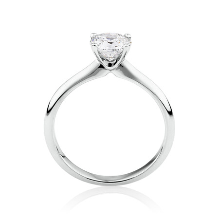 Certified Solitaire Engagement Ring with 1 Carat TW Diamond in 14kt White Gold
