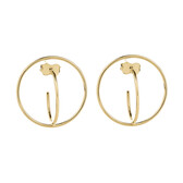 Circle Stud Earrings in 10kt Yellow Gold