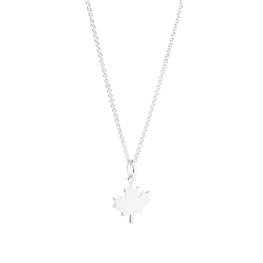 Maple Leaf Pendant in Sterling Silver