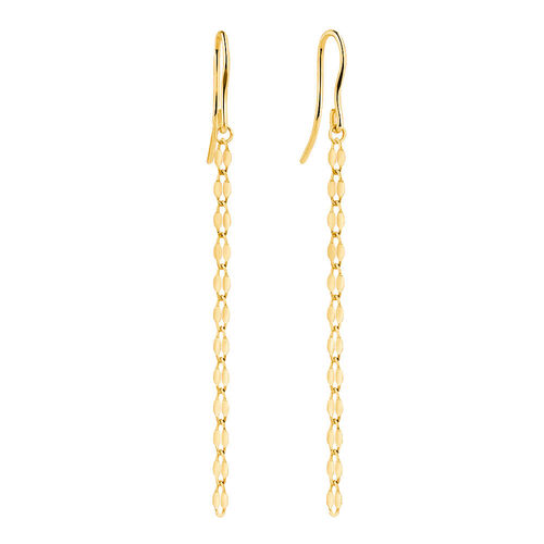 Strand Drop Earrings in 10kt Yellow Gold