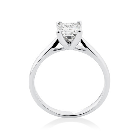 Evermore Engagement Ring with 1 Carat TW Diamond Solitaire in 14kt White Gold