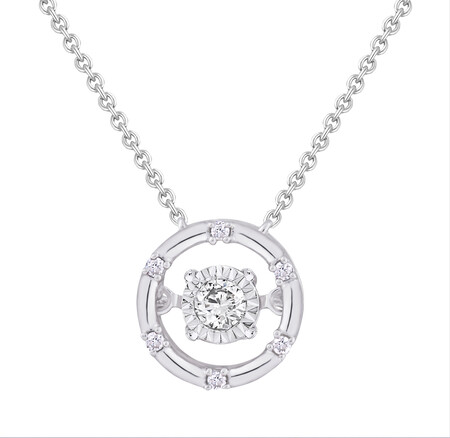 Everlight Pendant With 1/10 Carat TW Of Diamonds In Sterling Silver