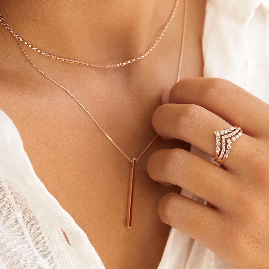 """40cm (16"""") Rolo Chain in 10kt Rose Gold"""